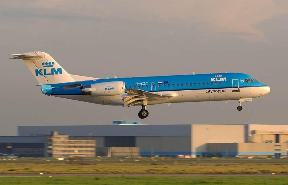 Fokker F70 KLM airborne