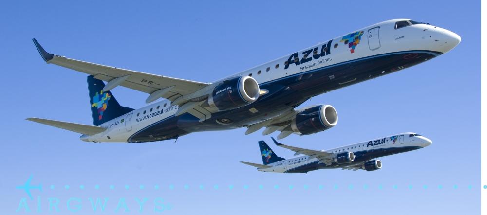 Aeronaves da empresa aérea Azul Linhas Aéreas.