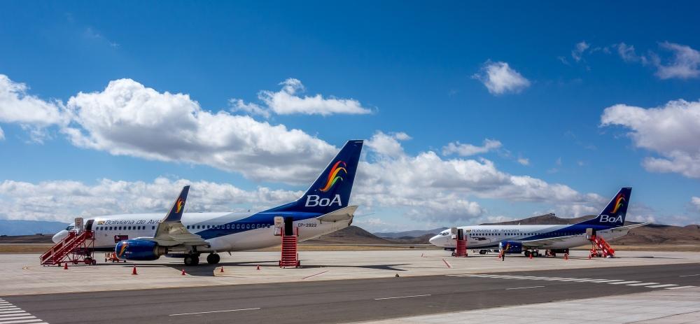 Resultado de imagen para aeropuerto internacional de la paz bolivia BoA