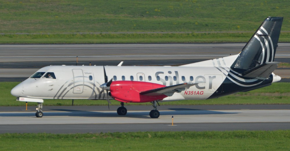 Saab_340B+_'N351AG'_Silver_Airways_(24222411619).jpg