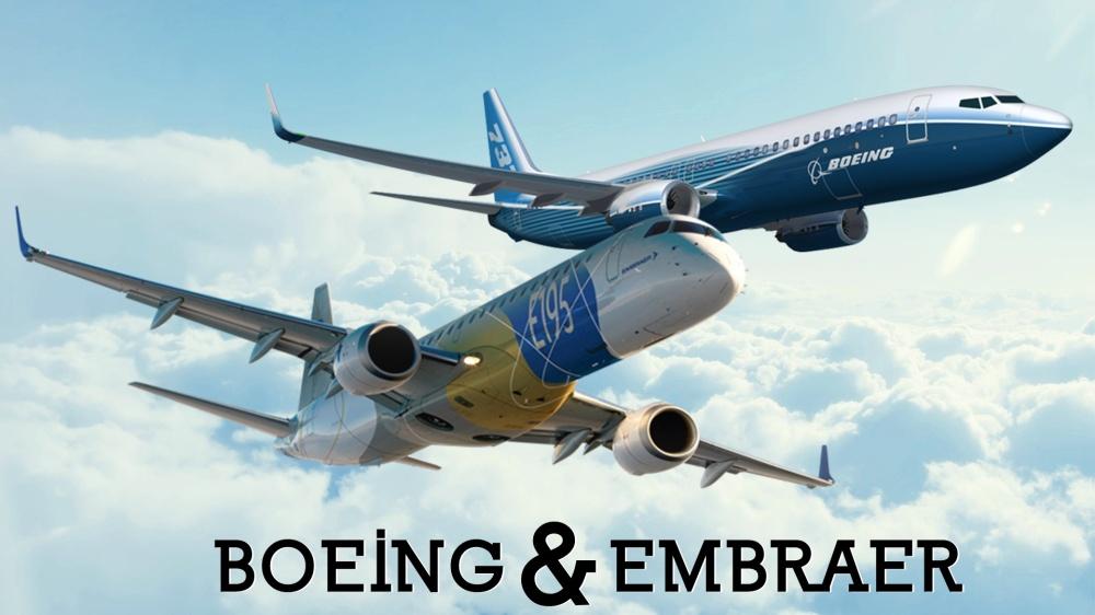 Resultado de imagen para boeing-embraer logo