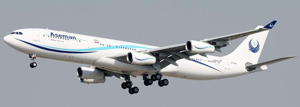 Iran_Aseman_Airlines_Airbus_A340-311_landing_at_Mehrabad_Airport.jpg