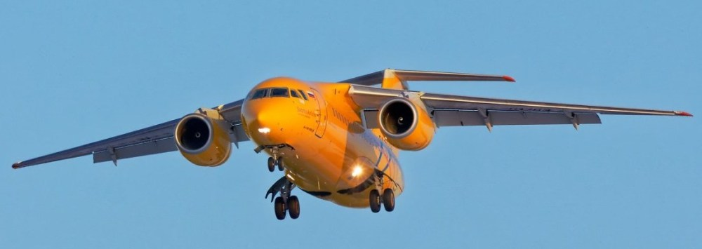 Saratov_Airlines_Antonov_An-148_RA-61703_on_final_approach_at_Irkutsk_Airport