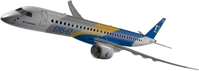 Resultado de imagen para Embraer E195E2 png