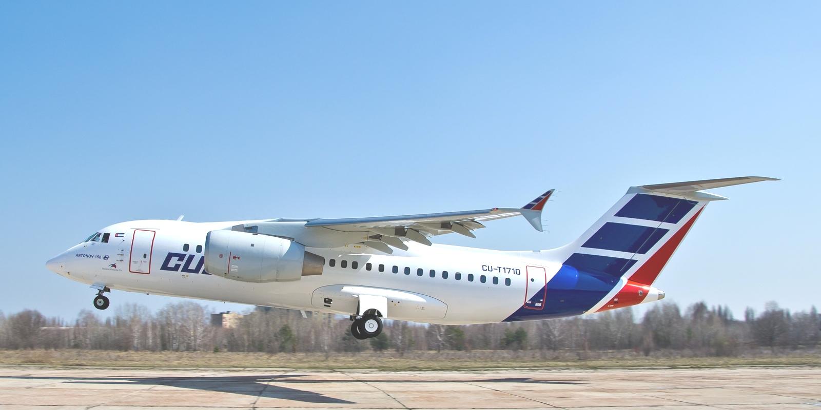 Cubana pone en tierra flota Antonov 158  