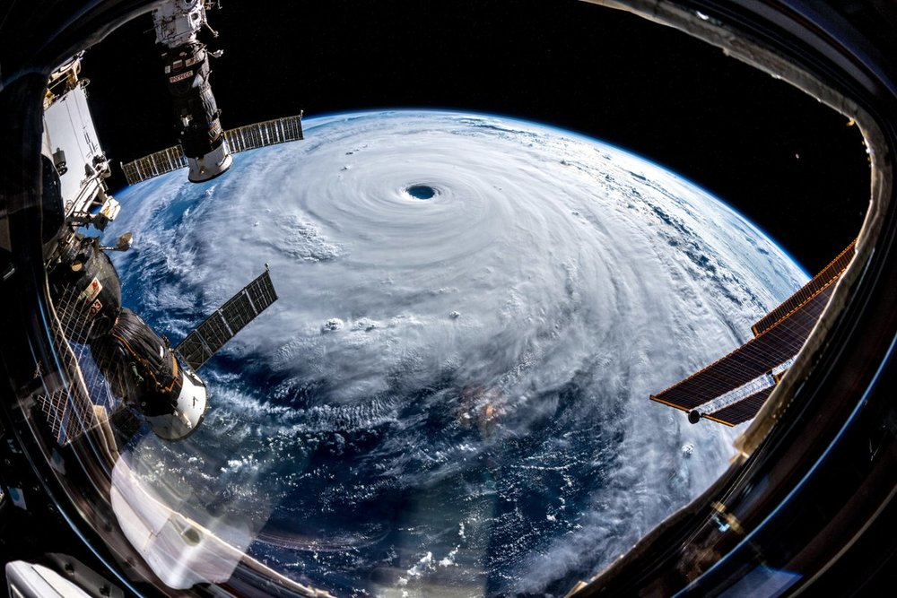 Super Typhoon Trami on September 25, 2018, as seen from the International Space Station.  (Photo: NASA)