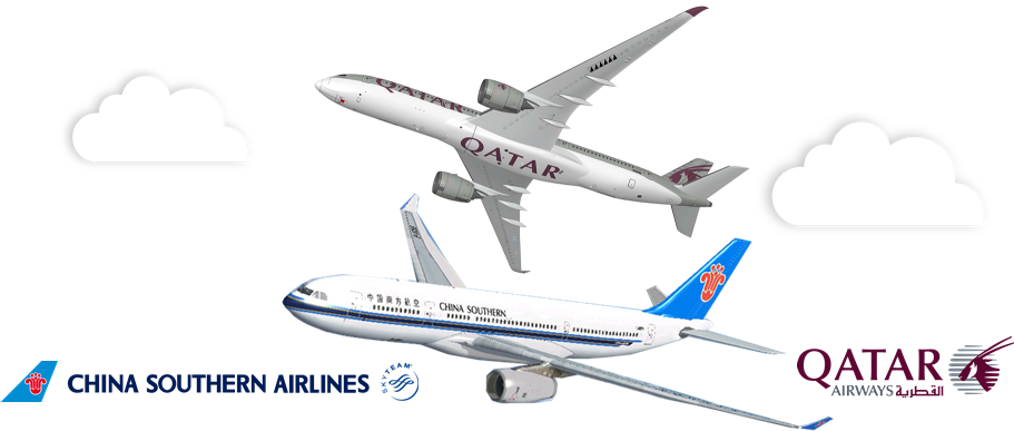 Resultado de imagen para airgways.com Qatar Airways-China Southern