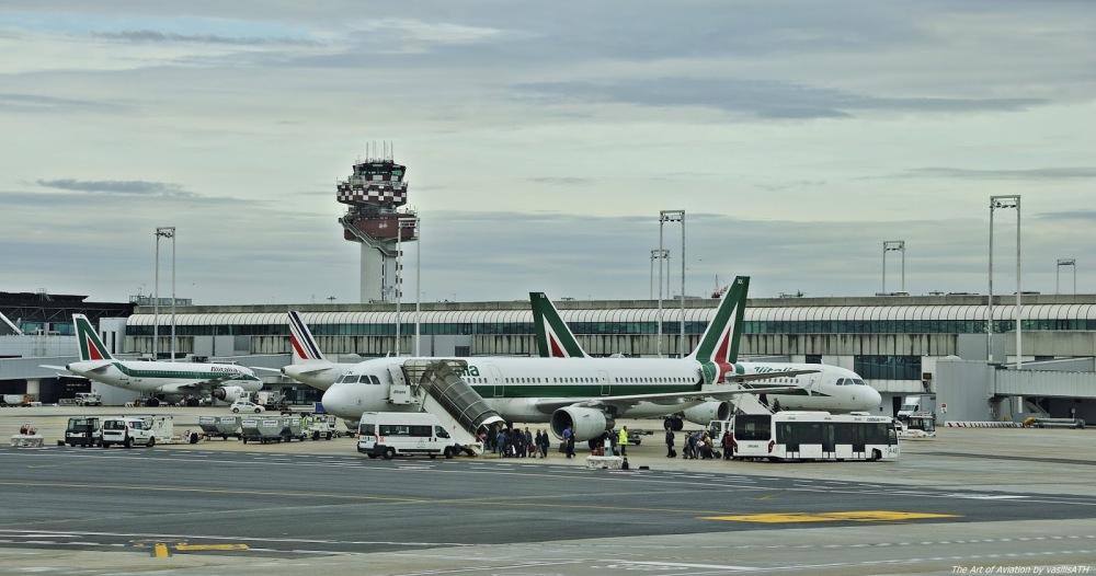 Resultado de imagen para Fiumicino Airport Alitalia