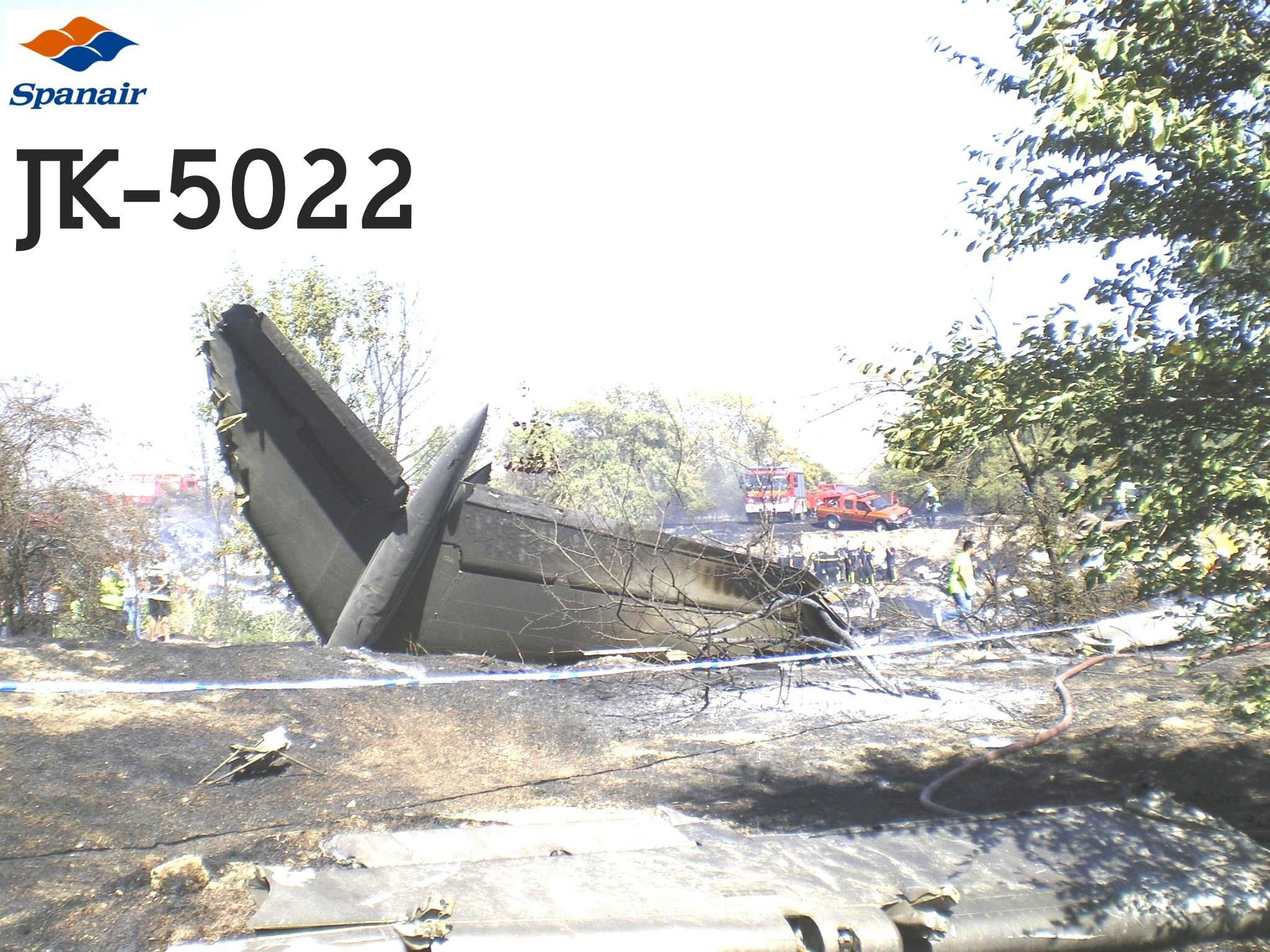11 años tragedia vuelo JK5022 Spanair |
