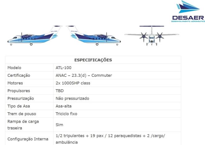 Desaer confirma 1er pedido de ATL-100  