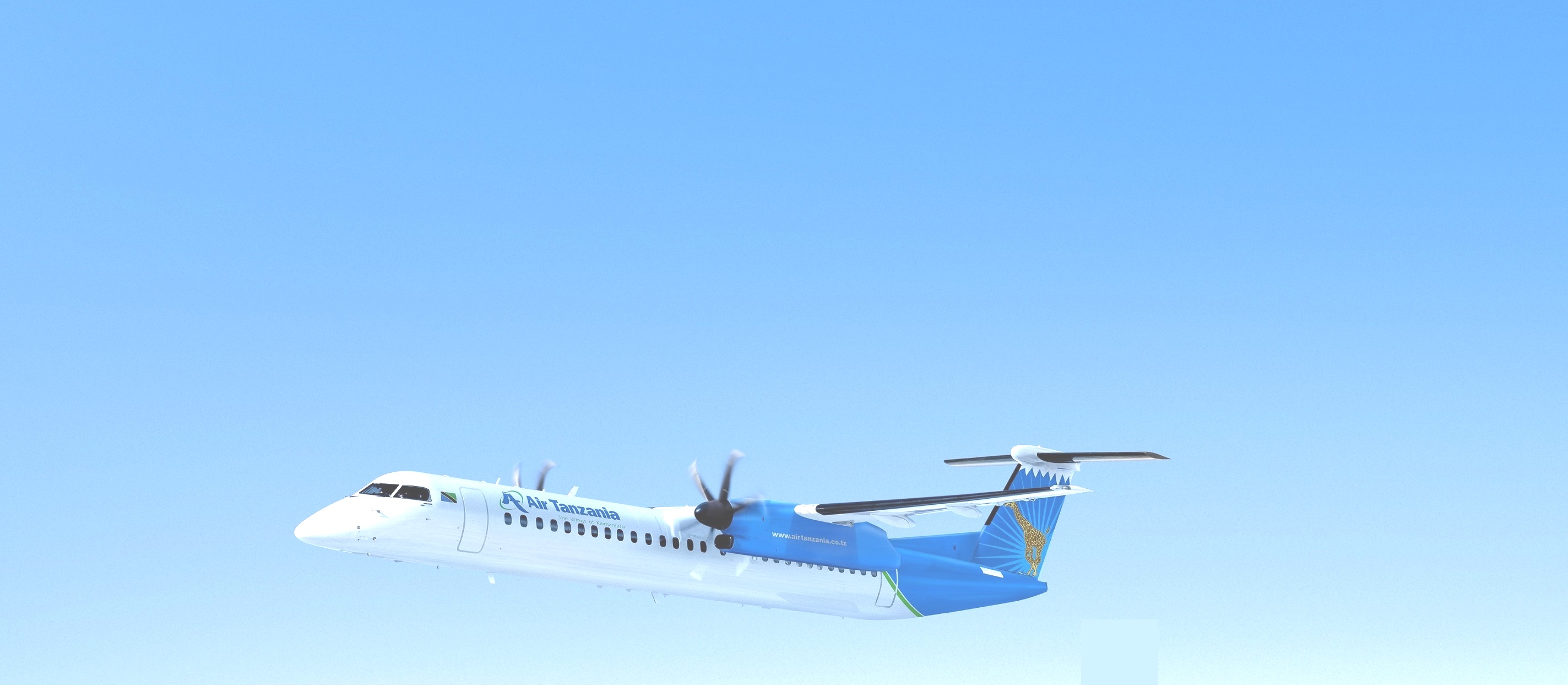 Image result for Air Tanzania 8Q400