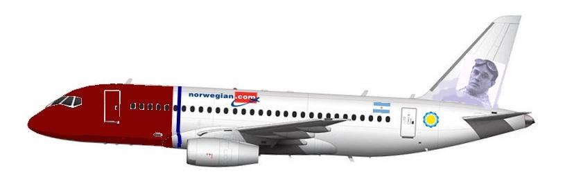 Resultado de imagen para Norwegian SSJ-100 Air Airgways.com