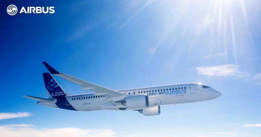 A220-300 in flight