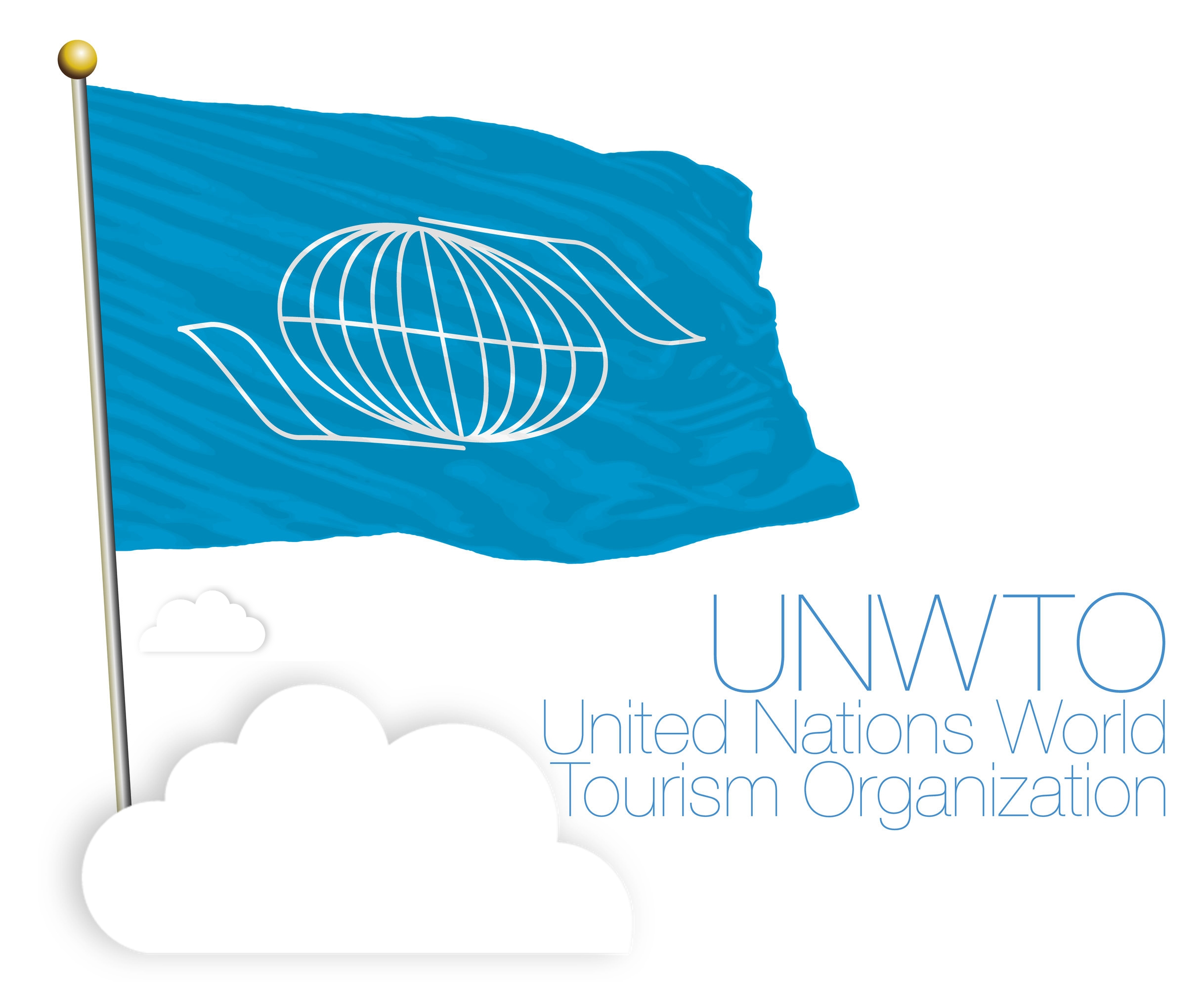 82561199 - unwto united nations world tourism organization, flag and symbol