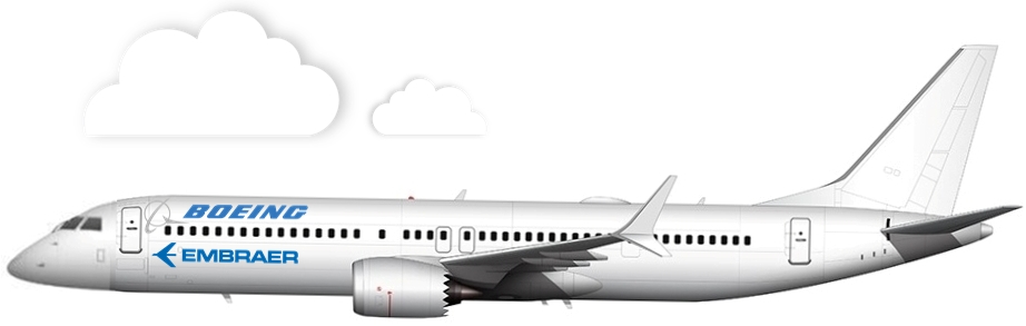 All White 737-9 MAX Illustration