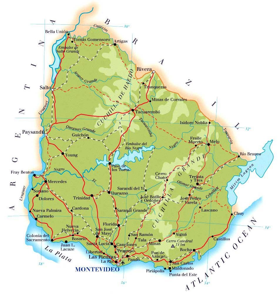 Uruguay-map
