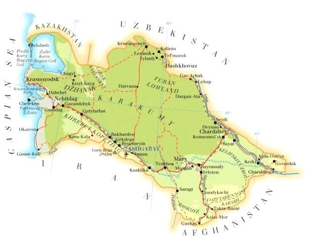 Turkmenistan_Map
