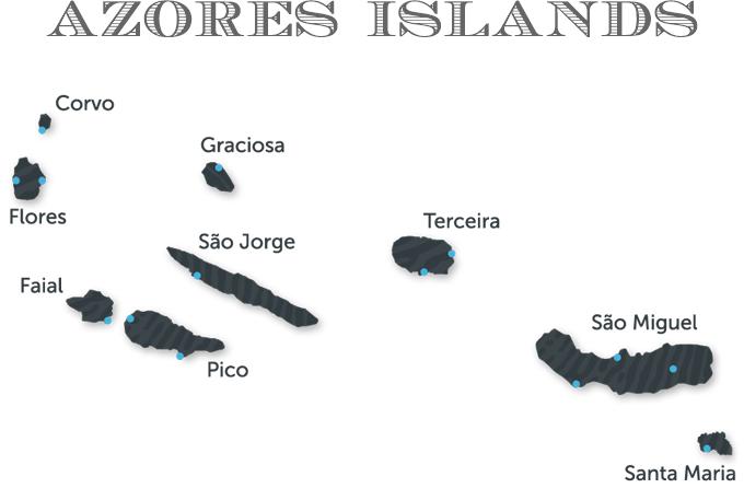 Azores Islands_map