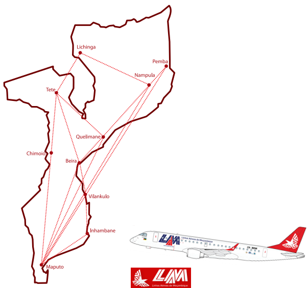 AW-LAM Mozambique Domestic network