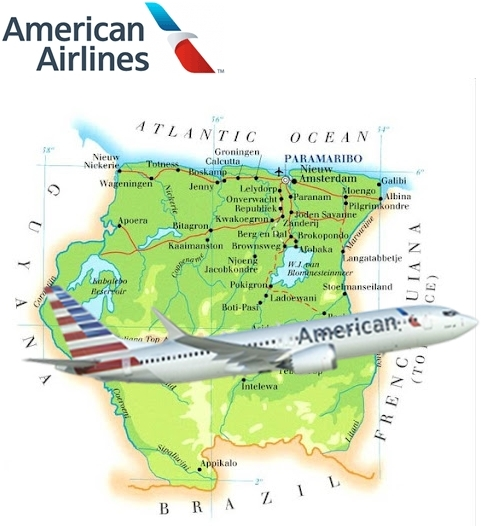 AW-Surinam map_American Airlines