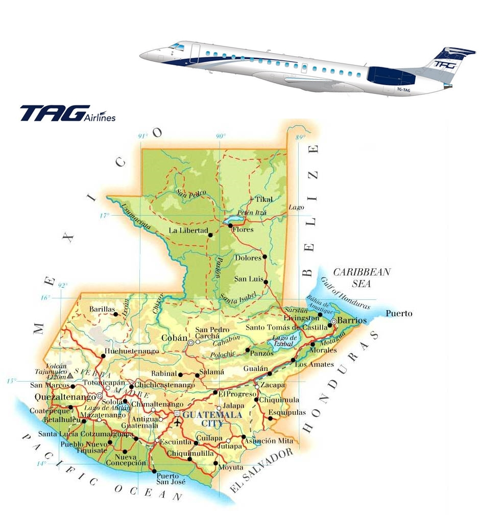 Guatemala_map TAG Airlines