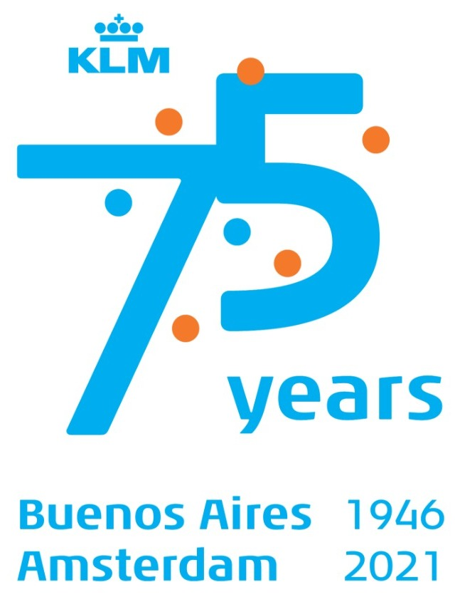 AW-KLM 75 años Amsterdam-Buenos Aires